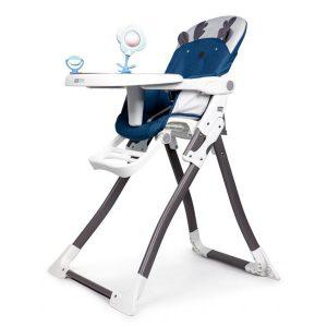 Dětská jídelní židle - rozkládací   tmavě modrá MUHC301-904