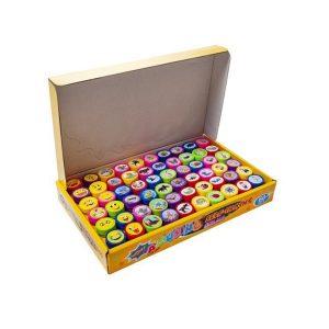 Sada dětských razítek   60ks obsahuje až 60 razítek s různými vzory, což zaručuje vašemu dítěti mnoho hodin zajímavé zábavy.